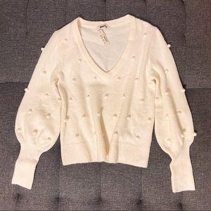 PRICE FIRM Madewell Bobble Dashwood V-Neck Sweater
